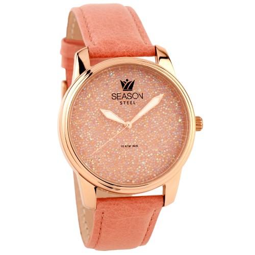Γυναικείο ρολόι Season Dazzling ρόζ e1049f92de6